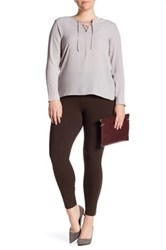Lysse Tight Ankle Legging Plus Size Brown