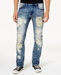 Inc International Concepts Men's Mega Ripped Slim Fit Jeans Created For Macy's Medium Wash