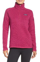 Patagonia Women's 'Better Sweater' Zip Pullover Craft Pink
