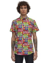 Moschino Gum Print Cotton Shirt Multicolor