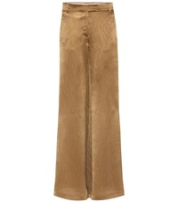 Valentino Wide Leg Trousers Gold