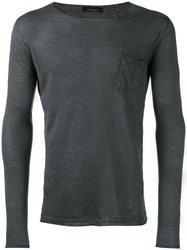 Roberto Collina Fine Knit Jumper Grey