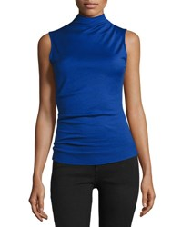 Rag And Bone Francis Sleeveless Wool Top Blue Bright Blue