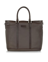 Chiarugi Dark Brown Large Leather Tote