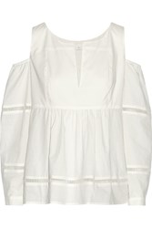 Thakoon Addition Cotton Jacquard Blouse White