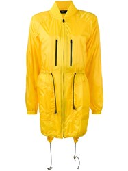 Versus Drawstring Parka Yellow Orange