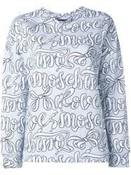 Love Moschino Logo Print Sweatshirt Grey