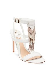Brian Atwood B Fabia Open Toe Dress Sandals White