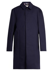 Vetements X Mackintosh Open Back Raincoat Navy