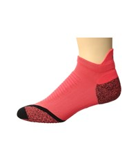Nike Elite Running Cushion No Show Tab 3 Pack Bright Crimson Black Reflective Silver No Show Socks Shoes Pink