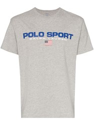 Polo Ralph Lauren Logo Print T Shirt Grey