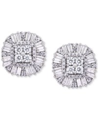 Wrapped In Love Diamond Cluster Stud Earrings 1 Ct. T.W. 14K Gold Created For Macy's White Gold