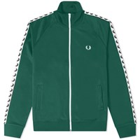 Fred Perry Authentic Taped Track Jacket Green