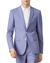 Sandro Notch Wool Slim Fit Suit Jacket Bleu Ciel