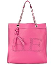 Ermanno Scervino Perforated Detail Tote Pink