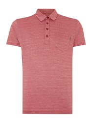 Peter Werth Jacob Check Slim Fit Polo Shirt Red