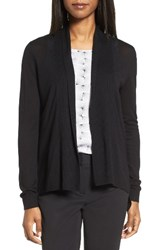 Nordstrom Women's Collection Shawl Collar Cardigan Black