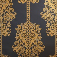 Flavor Paper Monaco Wallpaper Sample Swatch Gold On Ebony Clay Coated Sample