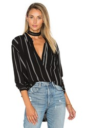 Rails Elle Button Down Black