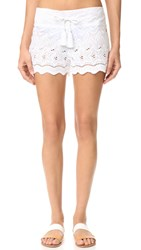 Ondademar Miranda Embroidered Shorts White