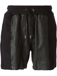 Avelon Paneled Drawstring Shorts Black