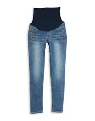 Blank Nyc Maternity Embellished Skinny Jeans Eye Candy