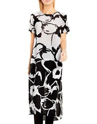 Vince Camuto Floral Colorblock Tunic Ivory