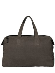 Allsaints Minato Waxed Brushed Canvas Duffle Bag