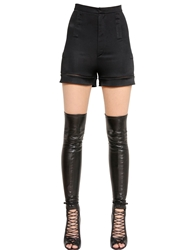 Givenchy Fluid Viscose Jersey High Waist Shorts Black