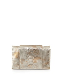 Halston Heritage Snake Print Leather Wallet On A Chain