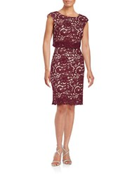 Jax Lace Popover Dress Pinot
