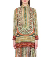 Valentino Aztec Print Cotton Shirt Multi