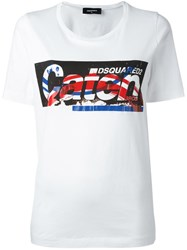 Dsquared2 Caten Bros T Shirt White