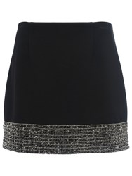 French Connection Crystal Shot Mini Skirt Black Silver