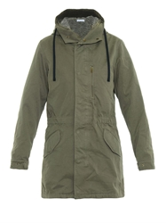 Tomas Maier Hooded Cotton Twill Parka