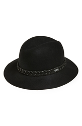 Rvca 'Rosy Fruits' Felt Fedora Juniors Black