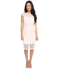 Jessica Simpson Scalloped Lace Dress Blush Pink
