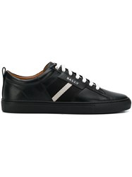 Bally Contrast Lace Up Sneakers Black