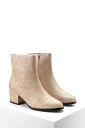 Forever 21 Glitter Faux Leather Booties
