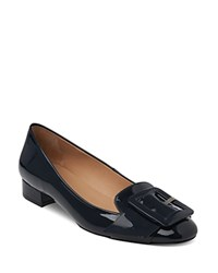 Whistles Harris Buckle Square Toe Loafers Navy