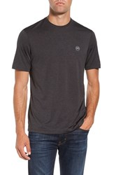 Travis Mathew Men's 'The Hg' Solid Crewneck T Shirt Heather Magnet