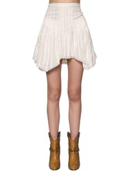 Etoile Isabel Marant Ruffled Cotton Mini Skirt White