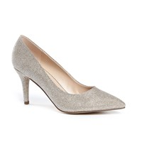 Paradox London Pink Appointed Mid Heel Court Shoes Champagne