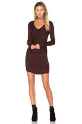 Riller And Fount Tippy Mini Dress Burgundy