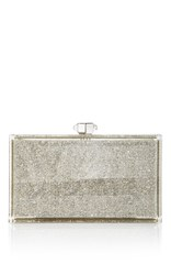 Judith Leiber Couture Crystallized Rectangle Clutch Silver