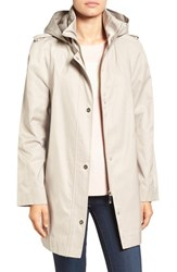 Ivanka Trump Women's Raincoat With Removable Hood Stone