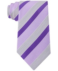 Geoffrey Beene Men's Stripe Of The Moment Tie Purple Dus