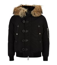 Dsquared2 Coyote Rabbit Lined Hooded Jacket Male