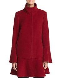 Joie Anichka Flounced Coat Cambridge Red