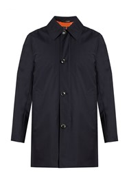 Paul Smith Gilet Lined Wool Coat Navy